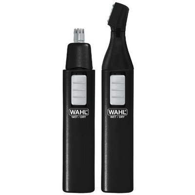 Wahl 5567-6001 Ear, Nose and Brow Dual Pack, Multi-head Trimmer, Black