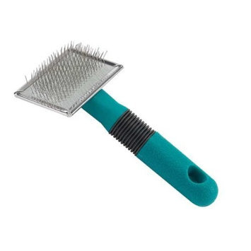 Master Grooming Tools Stainless Steel Small Dog Soft Slicker Brush with Rubber Grip, 5-3/8-Inch