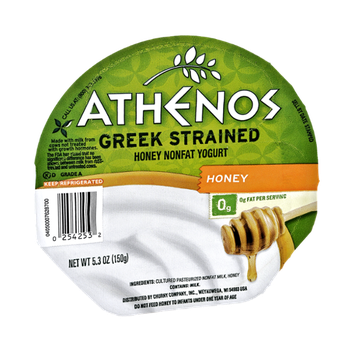 Athenos Greek Strained Honey Nonfat Yogurt