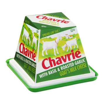 Chavrie Goat's Milk Cheese with Basil & Roasted Garlic