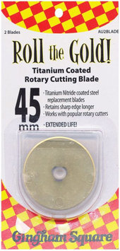 Euro Notions Roll the Gold! Titanium-Coated Rotary Cutting Blade, 45mm