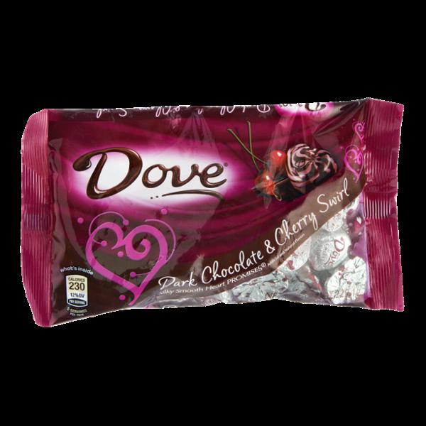 Chocolate Heart Promises Dark Chocolate & Cherry Swirl Valentine's Day Candy