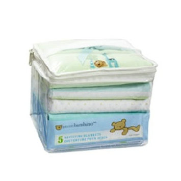 Piccolo Bambino 100% Cotton Flannel Receiving Blankets, Yellow Patterns, 5 ea