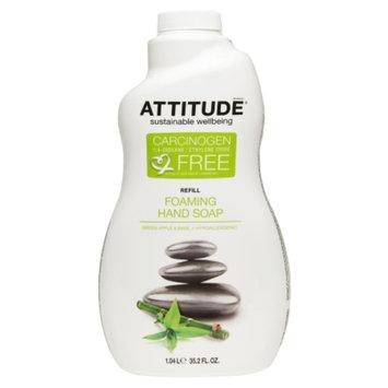Attitude Foaming Hand Soap Refill, Green Apple & Basil, 35.2 fl oz