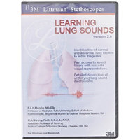 3M Littmann Educational CD, Learning Lung Sounds, 5110, (Pack of 1)