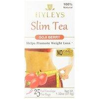 Hyleys Tea Slim Tea, Goji Berry, 1.32 Ounce 25 Tea Bags [Goji Berry, 1.32 Ounce]