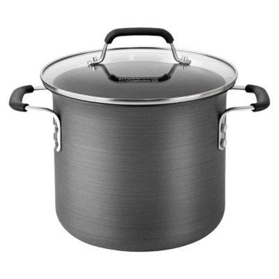 Calphalon Kitchen Essentials 6 Quart Hard Anodized Stock Pot - Black