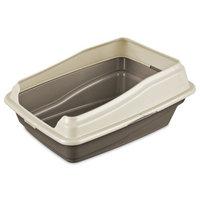 Sterilite 13046408 8. 13 inch H X 15. 25 inch W X 18. 88 inch D Framed Cat Litter Pan
