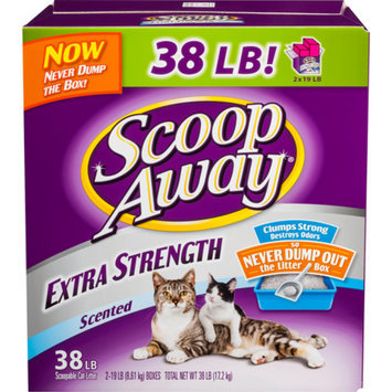 Scoop Away Extra Strength Scented Cat Litter, 38 lbs