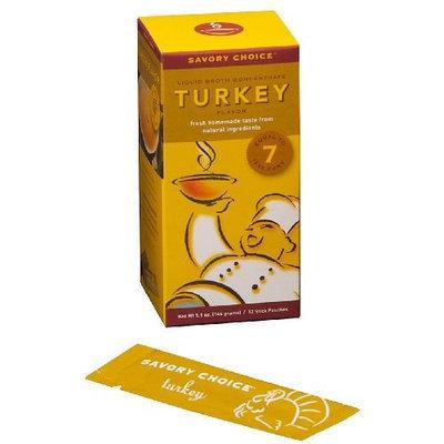 Savory Choice Liquid Turkey Broth Concentrate, 5.1 Ounce Box
