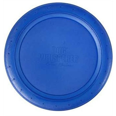 Romp! Dog Whisperer with Cesar Millan Fetch & Catch Flying Disc, Durable, Chewlastic Rubber Dog Toy (Colors Vary)