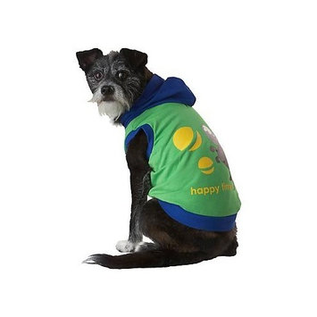 Waghearted DWG30341 Happy Time Pet Hoodie, Medium, Green