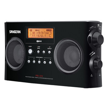 Sangean PRD5BK Digital Portable Stereo Receiver With AmFm Radio Black