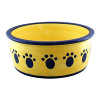 Ethical Classic 8-Inch Paw Prnt Dish, Blue