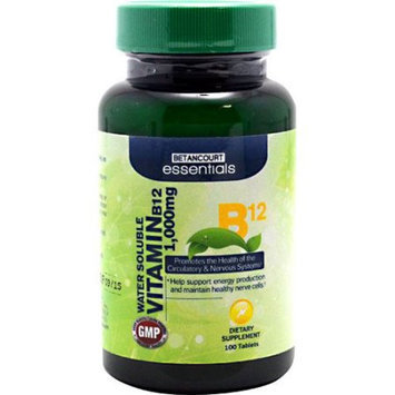 BETANCOURT ESSENTIALS Betancourt Essentials Vitamin B12, 100 Tablets - 1,000mg