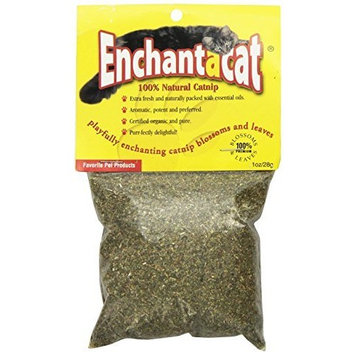 Enchantacat Premium Organic Catnip Ultra Fine Cut in a Bag, 0.5-Ounce