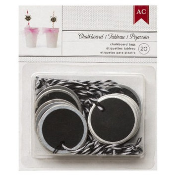 American Crafts Metal Rimmed Circle Tags-20 Pc