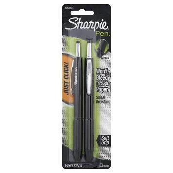 Sharpie Pens, Retractable, Fine Point, Black, 2 pens