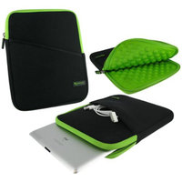 roocase Bubble Neoprene Sleeve Carrying Tablet Protective Case Cover for Apple iPad Air / iPad 4 3 2, Neon Green / Black