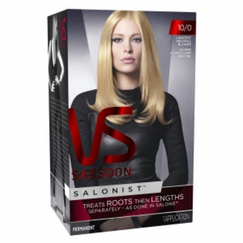 Vidal Sassoon Salonist Hair Colour Permanent Color, 10/0 Lghtst Neut Blnde, 1 set