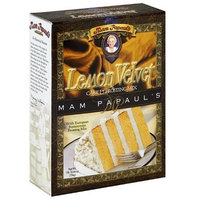 Mam Papaul's Lemon Velvet Cake Mix W Frosting 26.7 Oz