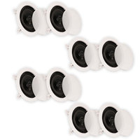 Theater Solutions In Ceiling Speakers Home Theater Contractor Series 1280 Watts 4 Pair Pack 4CS5C