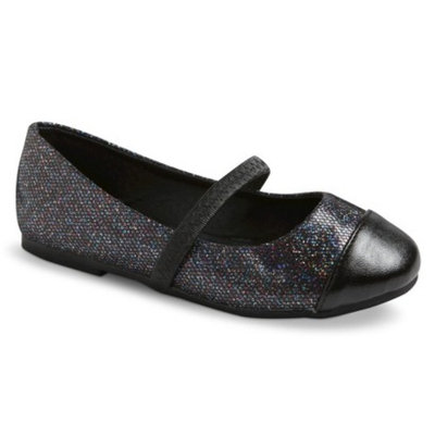 Toddler Girl's Teagan Ballet Shoes - Black 10