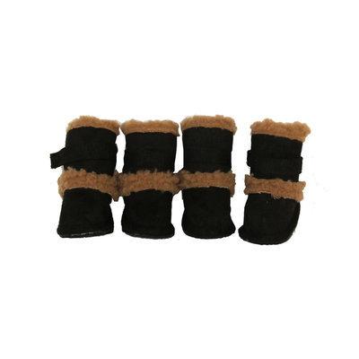 David Shaw Silverware Na Ltd Pet Life Pet Life Duggz Snuggly Shearling Boots Extra Small - David Shaw Silverware NA LTD