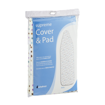 Whitmor Supreme Ironing Board Cover & Pad Dots