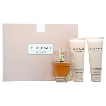 Elie Saab Le Parfum By Elie Saab For Women - 3 Pc Gift Set 3oz Edp Spray, 2.5oz Scented Body Lotion, 1oz Scented Shower