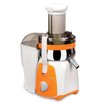 Cam Consumer Products, Inc. Kuvings Centrifugal Juicer, White with Orange Accent