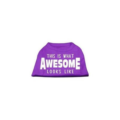 Ahi This is What Awesome Looks Like Dog Shirt Purple XS (8)