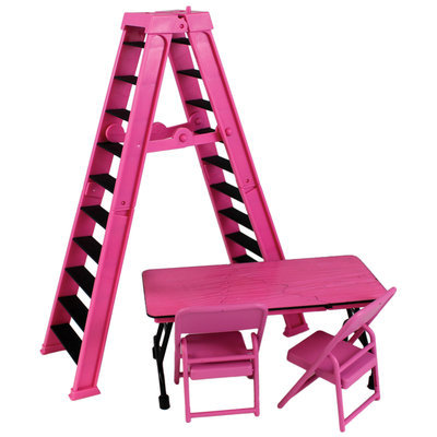 Mfg Id For Dot.com Items Ultimate Ladder & Table Playset (Pink) - Ringside Exclusive Toy Wrestling Action Figure Accessories Pack