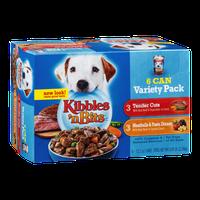 Kibbles 'n Bits 6 Can Variety Pack Tender Cuts & Meatballs & Pasta Dinner - 6 CT