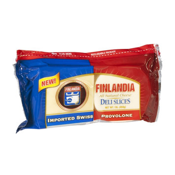 Finlandia Cheese Deli Slices Imported Swiss and Provolone All Natural