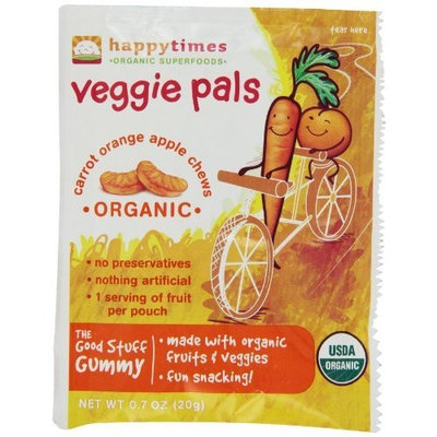 Happy Times Organic Happy Times Veggie Pals Individual, Carrot, Orange, Apple Chews, 0.7 Ounce (Pack of 20)