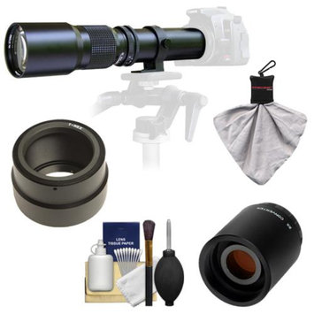 Samyang 500mm f/8.0 Telephoto Lens with 2x Teleconverter (=1000mm) for Sony Alpha NEX-C3, NEX-F3, NEX-5, NEX-5N, NEX-7 Digital Cameras