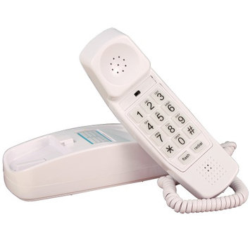 Golden Eagle Electronics Trimline Corded Telephone - Design From 60s With Modern Electronics (White)