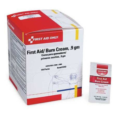 First Aid Only Burn Cream (Application: Burn Relief, Size: 0.9g, Box Package Type). Model: H343GR