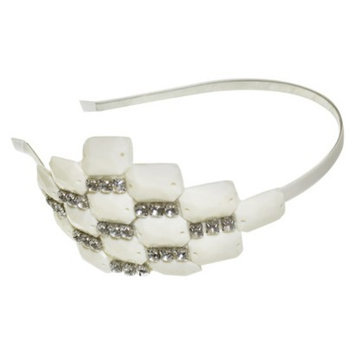RIVIERA, A STYLEMARK CO Women's Riviera Headband with Stones and Rhinestones - Ivory