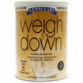 Lewis Labs Weigh Down Powder Chocolate 16 oz