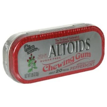 Altoids Chewing Gum, Peppermint, Sugar Free, 20 pieces [1.05 oz (30 g)]
