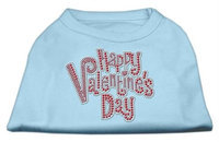 Ahi Happy Valentines Day Rhinestone Dog Shirt Baby Blue XS (8)