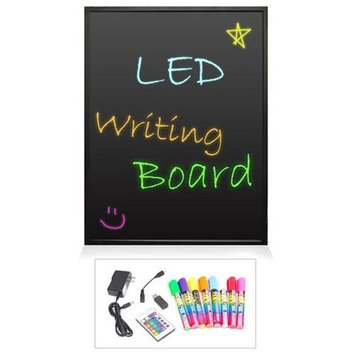 Pyle Audio Pyle Erasable Illuminated LED Writing Board w/ Remote Control and 8 Fluorescent Markers PLWB6090