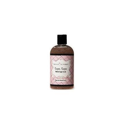 Bella Il Fiore Walnut Sugar Scrub, Peppermint Almond Coconut, 12 Ounce