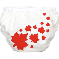 Winc Design Limited Charlie Banana Extraordinary Training Pants, Maple Leaf on White