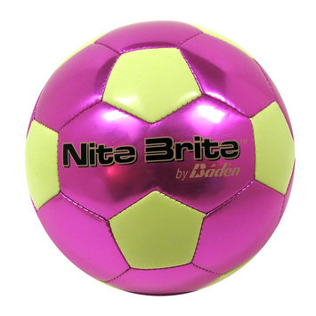 Baden Nite Brite Soccer Ball, Royal/Glow Green - Size 4