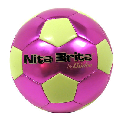 Baden Nite Brite Soccer Ball, Royal/Glow Green - Size 4