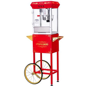 Great Northern Popcorn Chaplin Bar Style Popcorn Machine in Black
