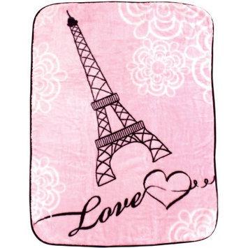 Luvable Friends Hi Pile Blanket, Paris